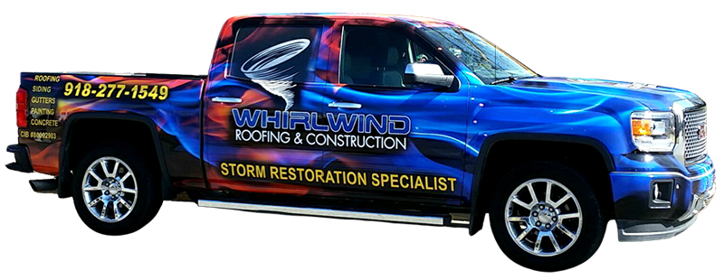 Whirlwind Roofing Tulsa Truck